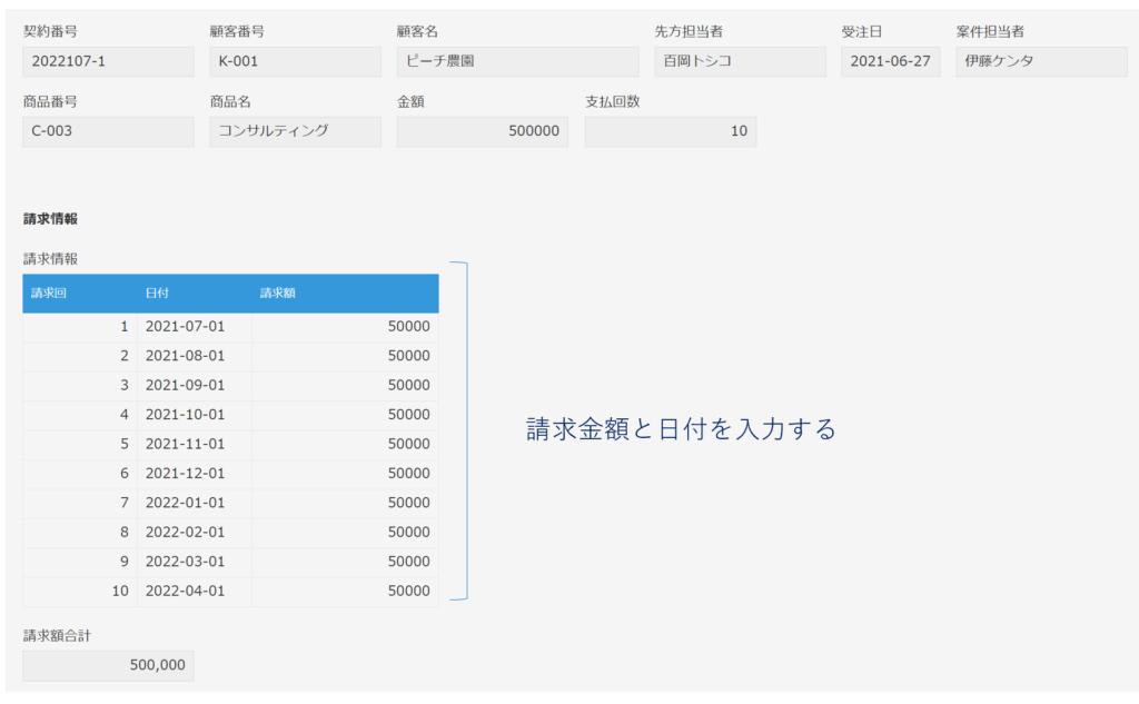契約管理アプリ